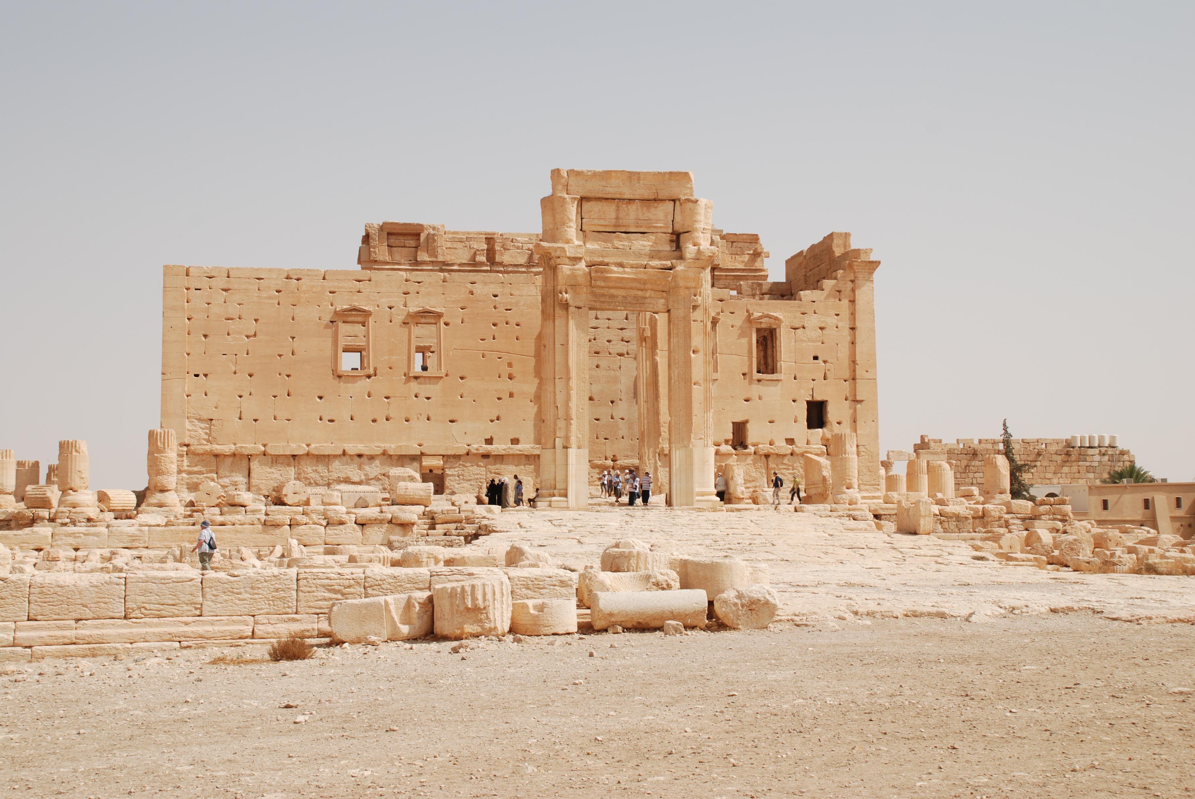 Vista del Templo de Palmira