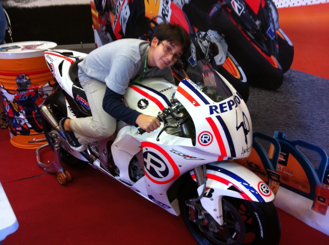 Pablo en la Honda MotoGP