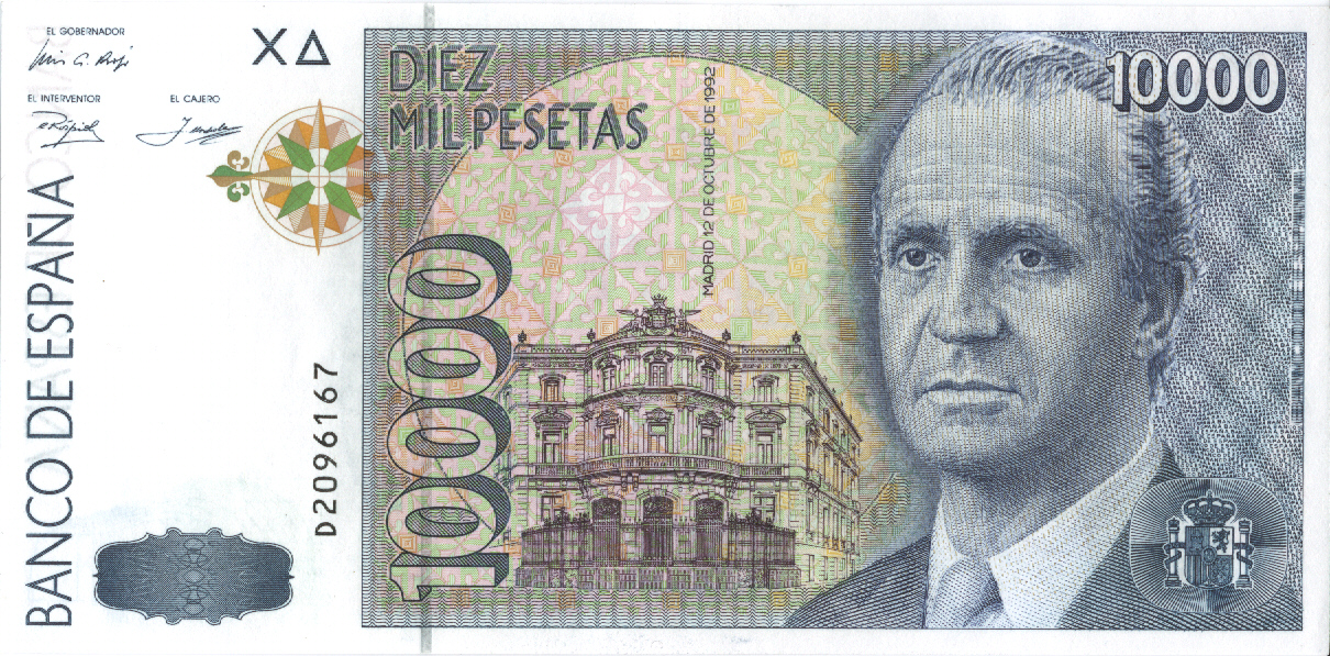 Billete de 10.000 pesetas